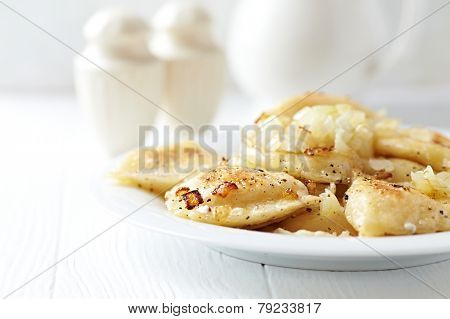 Pierogi with potato and cheese filling (Poland)