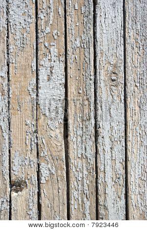 Un fondo de madera pintada blanca resistido