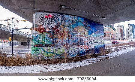 Overpass murals,Calgary
