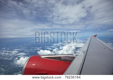 Wing Aircraft, Beautiful White Clouds