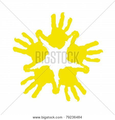Vector colorful handprints
