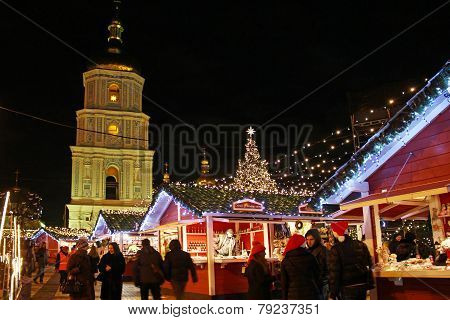 Christmas Market In Kyiv