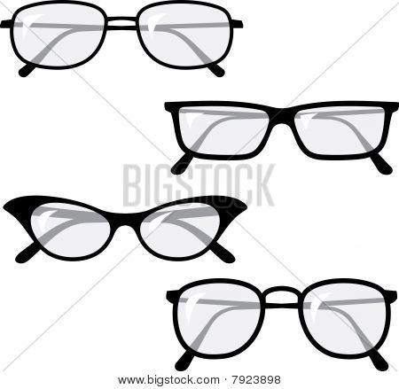 Brillen Vektorzeichnungen