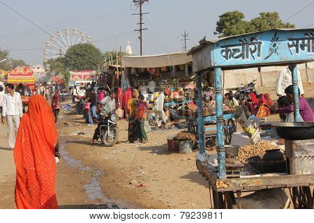 Indian People At Pushkar