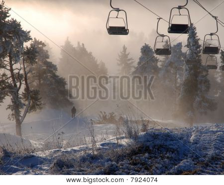 a ski resort Sorochany near Moscow