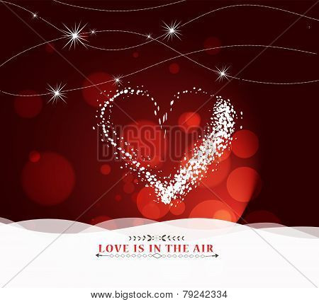 happy valentine day with heart light Background
