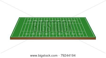 American Football Field 3D Perspective