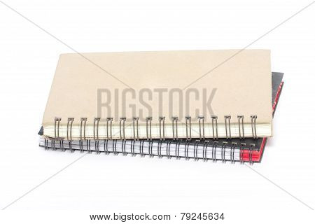 Ring Binder Hard Cover Book Isolated On White.