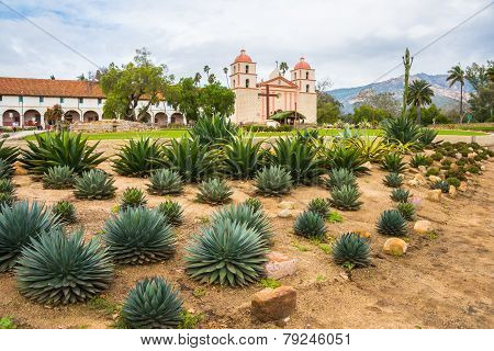 Old Mission Santa Barbara Landscape