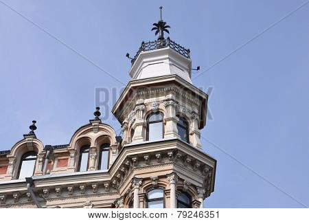 Top of Historic Building in the sky from Helsinki in Finland