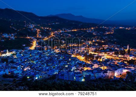 Chefchaouen After Sunset , Morocco