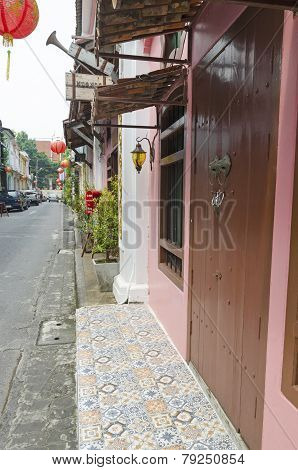 Phuket,TH-Sept,18 2014:Soi Rommanee - in the late 19th century became a Thai Red-light street,Phuket