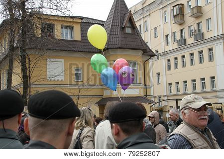 The Balloons Symbolizing The Arrested Participants Of Pussy Riot