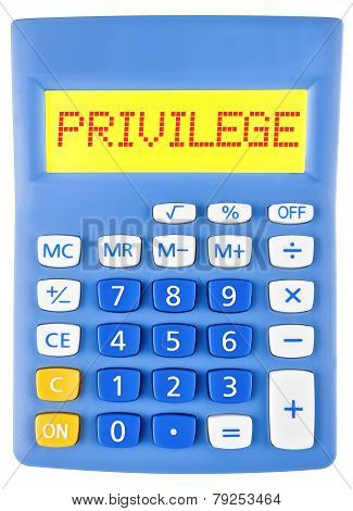 Calculator With Privilege