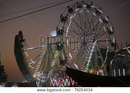 Pushkar fair at sunset light