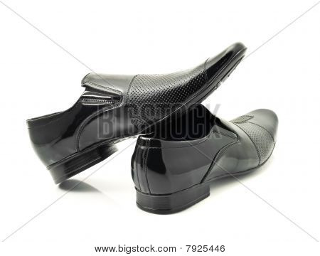 Pair Of Classic Mens Patent-leather Shoes