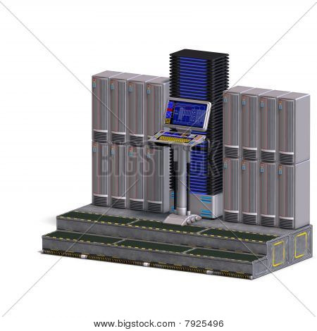 eine historische Science-Fiction Computer oder mainframe