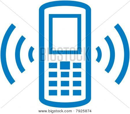 Vector ringing cell phone illustration