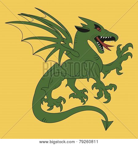 Green Dragon Coat Of Arms