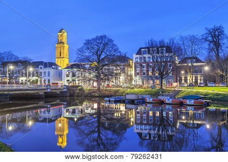 Zwolle In The Evening, Netherlands