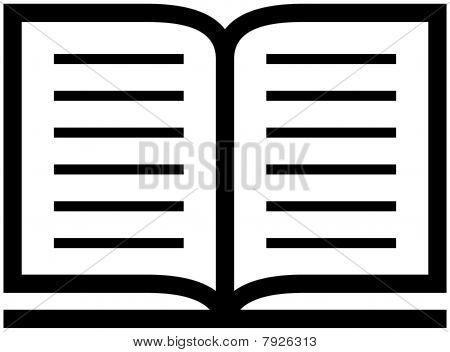 Open book icon - vector illustration