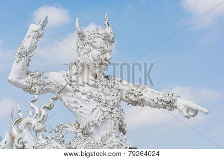 Giant Wat Rong Khun Or White Temple