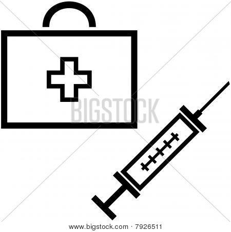 Medical items - Vector illustration