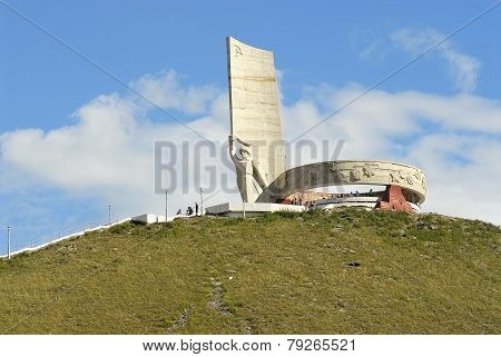 Zaisan war monument in Ulaanbaatar, Mongolia.
