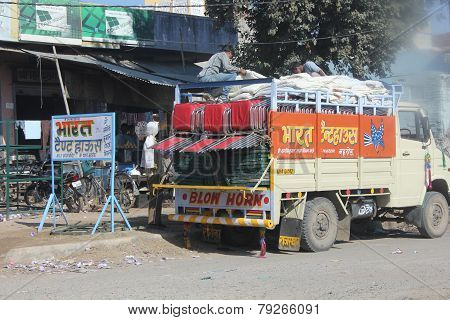 Traditionally Decorated Indian Truck