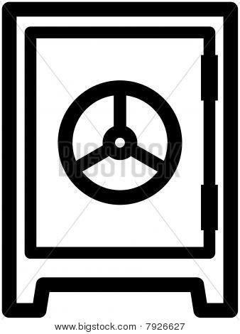 Caixa-forte cofre - ilustração vetorial