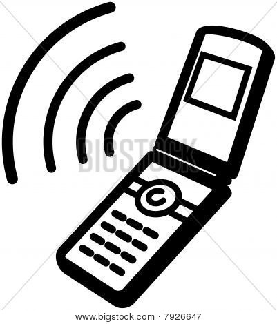 Ringing mobile phone icon