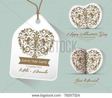 Save the date Just Married, Happy Valentine's Day