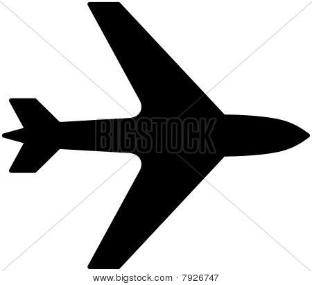 Simple aircraft, airplane icon