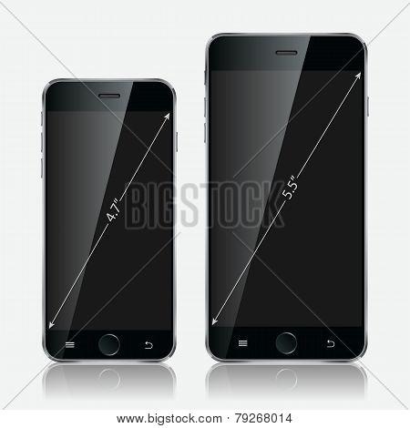 Realistic White Mobile Phone. Illustration Image