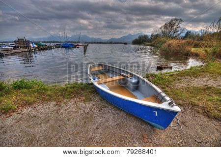 Boat At Lake Chiemsee In Germany