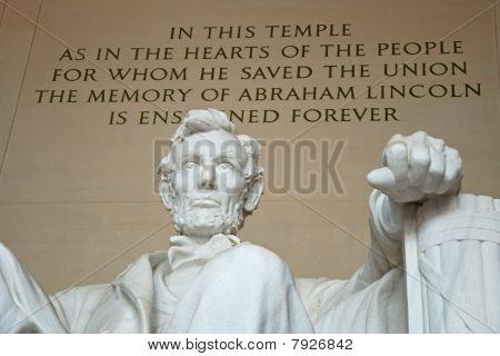 Estátua de Abraham Lincoln no Lincoln Memorial