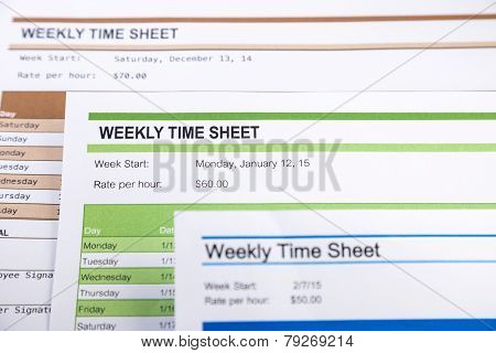 Weekly Time Sheet Forms For Payroll