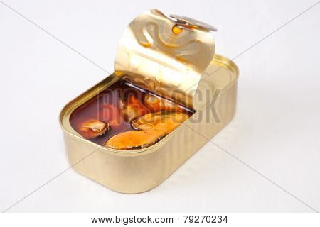 Canned Mussels With Brown Escabeche Sauce