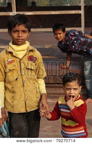 Child In Delhi, India