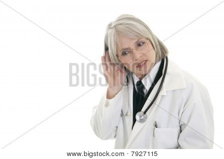Mature Female Doctor Listening