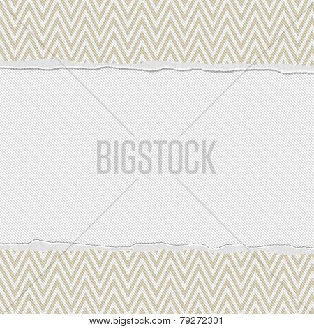 Beige And White Torn Chevron Frame Background