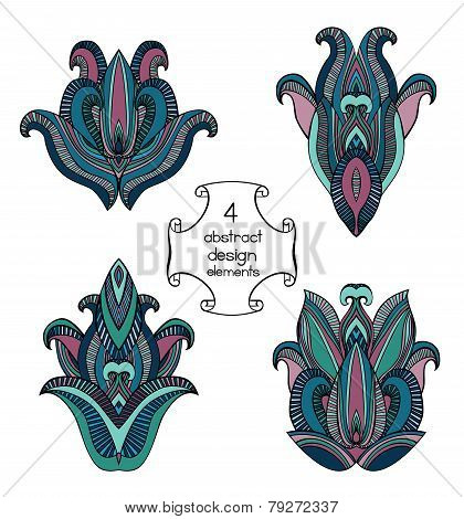 Abstract Indian Design Elements Collection