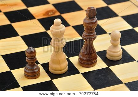 Chess Figures As Interracial Family
