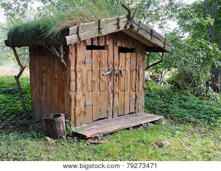 Outdoor Toilet Of Wood