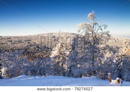 View Towards The Feldberg In The Winter