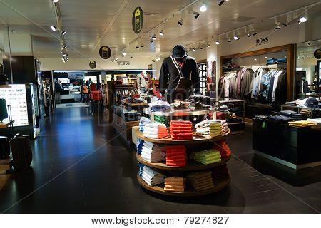 GENEVA - SEP 11: boutique interior on September 11, 2014 in Geneva, Switzerland. Geneva is the second most populous city in Switzerland and is the most populous city of Romandy