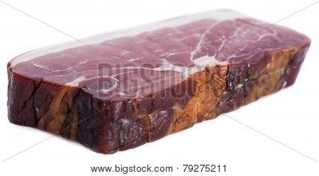 Smoked Ham (isolated On White)