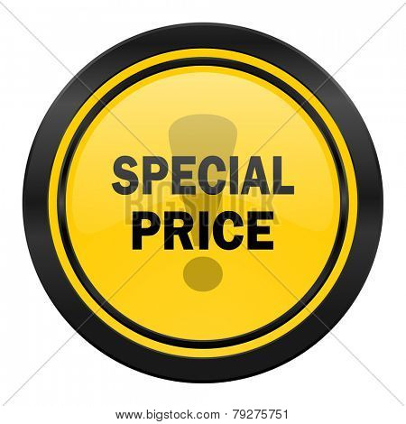 special price icon, yellow logo,