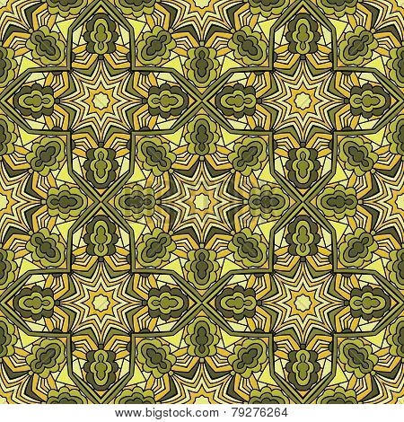 Arabic Stained Glass Seamless Pattern