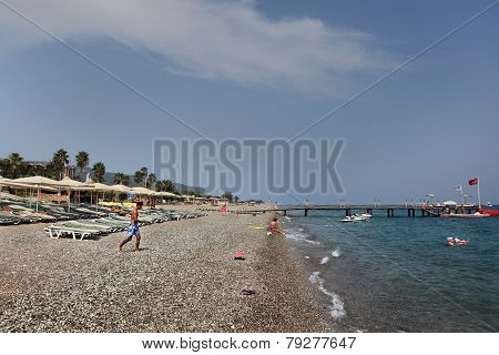 Private Equipped Beach On The Antalya Coast.